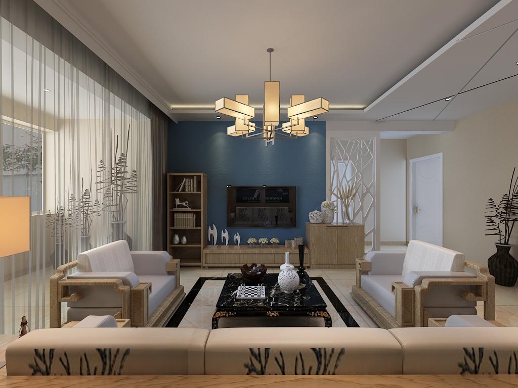 现代风格 二居 混搭 首创国际 旧房改造 百家装饰 装修公司 客厅装修 客厅图片来自百家装饰小姜在首创国际96平现代风格的分享