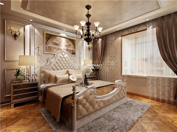 欧式 三居 别墅 白领 收纳 旧房改造 80后 小资 西安今朝 卧室图片来自西安今朝装饰设计有限公司在打造品质高端奢华领域的分享