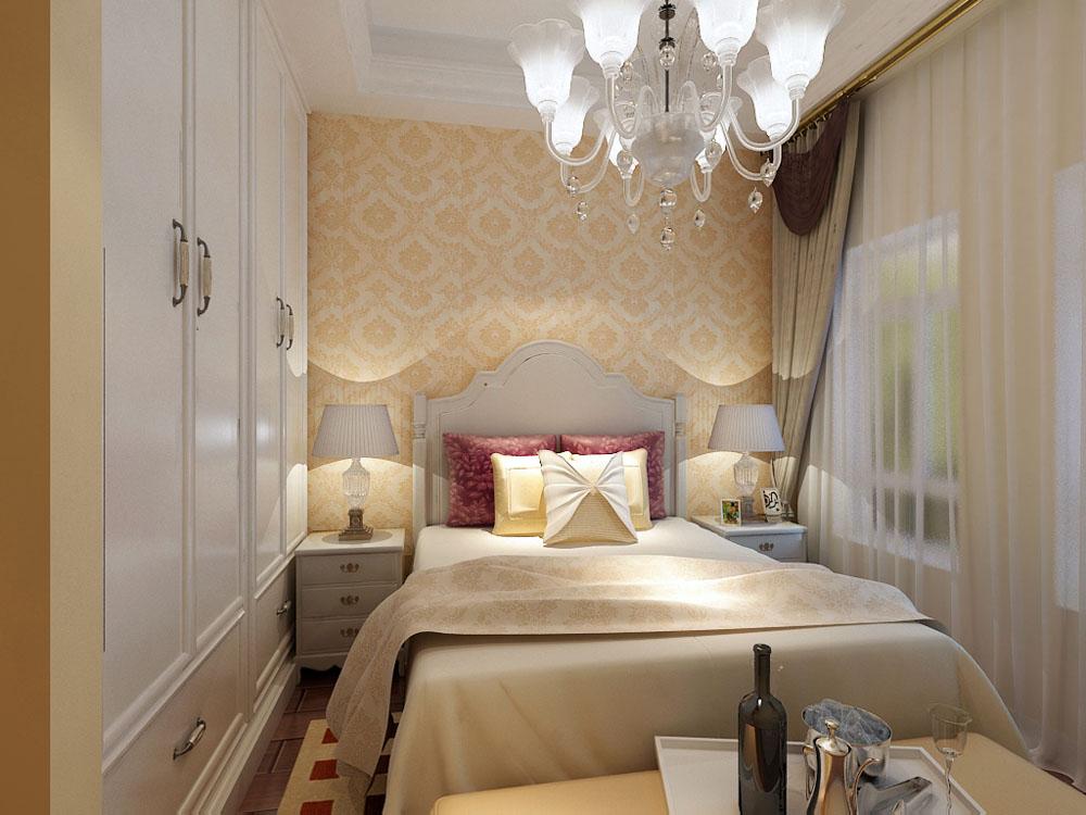 欧式 二居 白领 收纳 80后 小资 卧室图片来自阳光力天装饰在海河华鼎-80㎡-欧式的分享