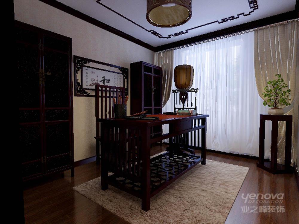 136平 三居 雅仕兰庭 书房图片来自天津业之峰装饰在雅仕兰庭136平新中式三居室的分享