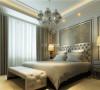 浅浅的银灰色加上米白色的床铺以及坐凳,简约而不简单,给生活一种纯净的美。