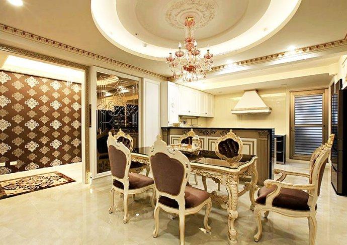 简约 欧式 别墅 宫廷奢华 餐厅图片来自孙进进在198平欧式古典别墅演绎宫廷奢华的分享