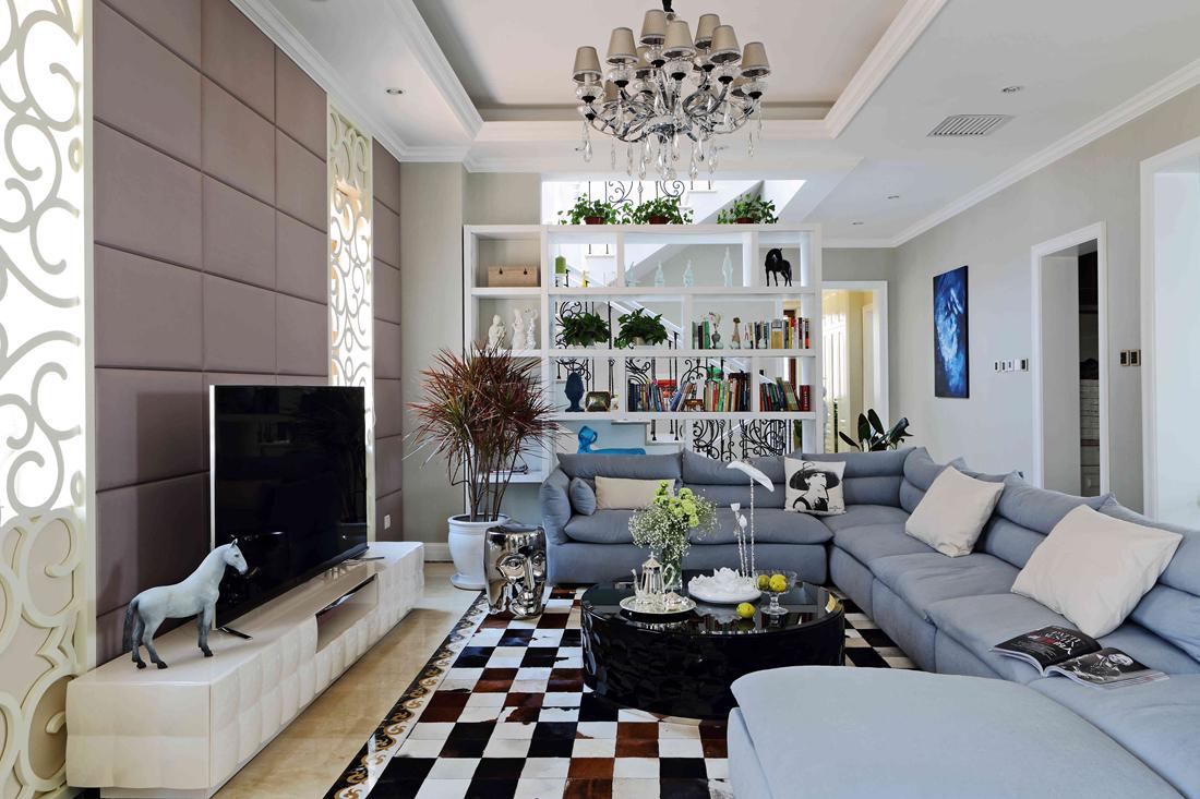 欧式 别墅 白领 尚层装饰 客厅图片来自北京别墅装修案例在700平简欧风格案例欣赏的分享