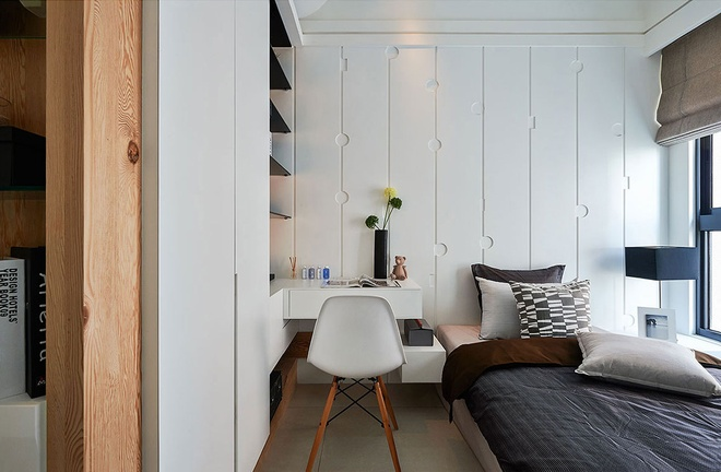 卧室图片来自家装大管家在流线造型 141平现代素雅3居的分享