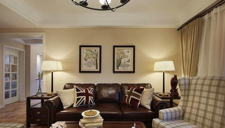 现代美式 日升装饰 装修设计 客厅图片来自装修设计芳芳在高速路紫荆长安137平现代美式的分享