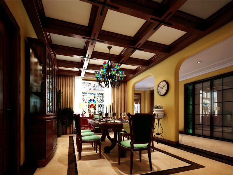 别墅 美式 北京别墅 餐厅图片来自尚层装饰张迪在官厅·泊爱蓝岛530平美式风格的分享