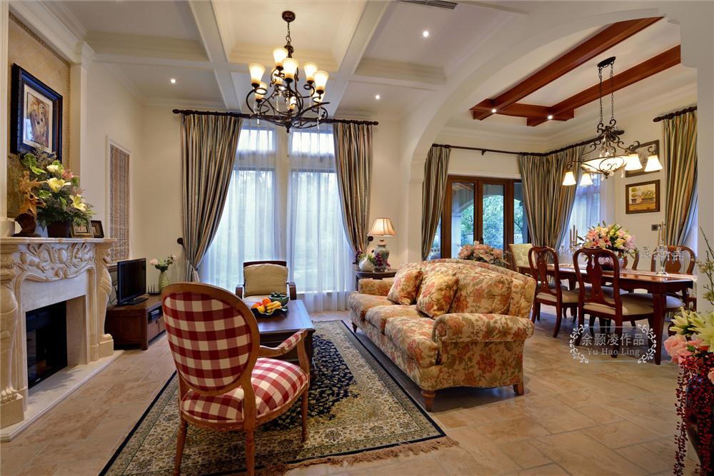 美式 麓山国际 实景 别墅 客厅图片来自成都业之峰装饰公司在美式实景风格分享的分享