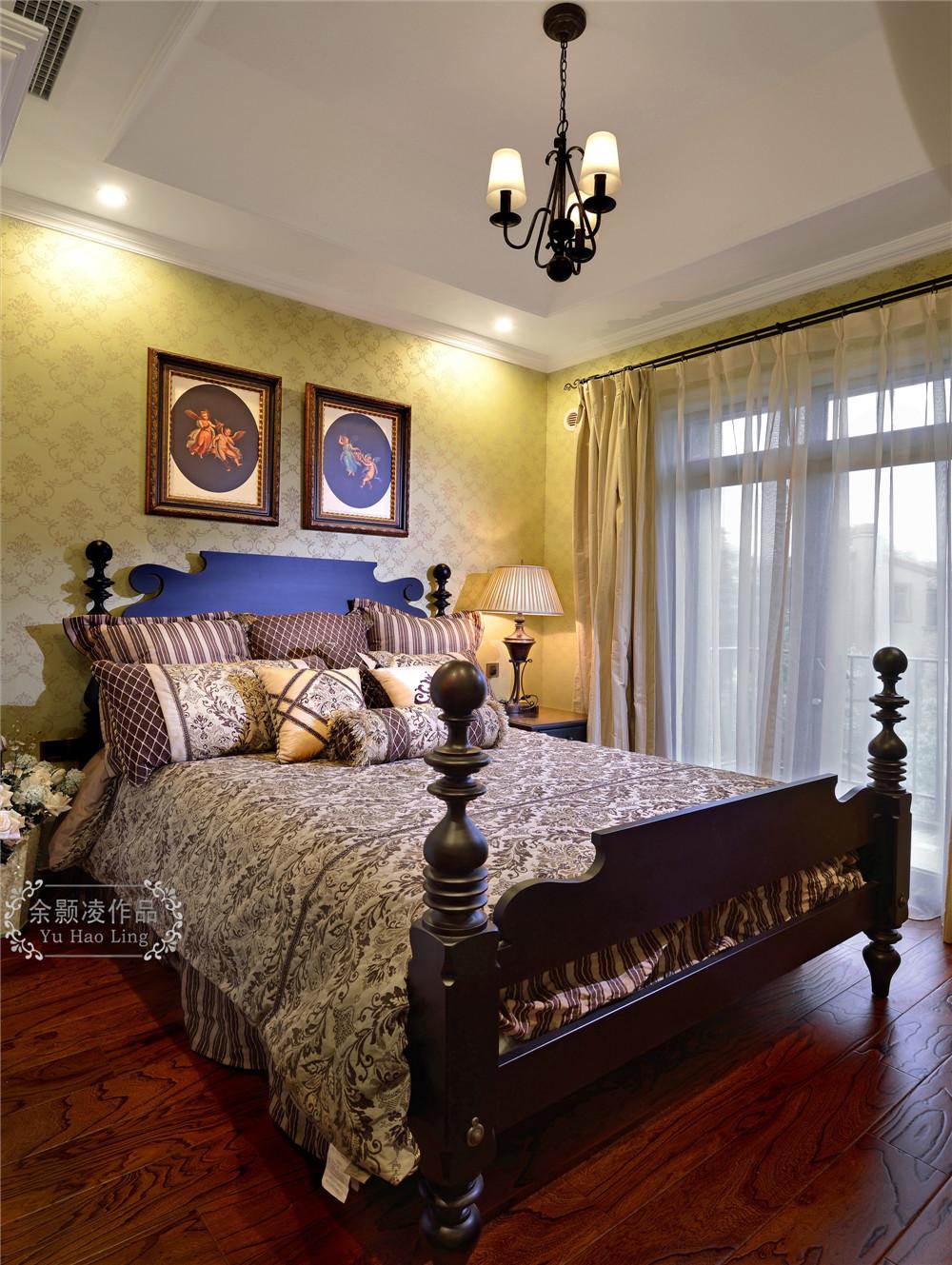 美式 麓山国际 实景 别墅 卧室图片来自成都业之峰装饰公司在美式实景风格分享的分享