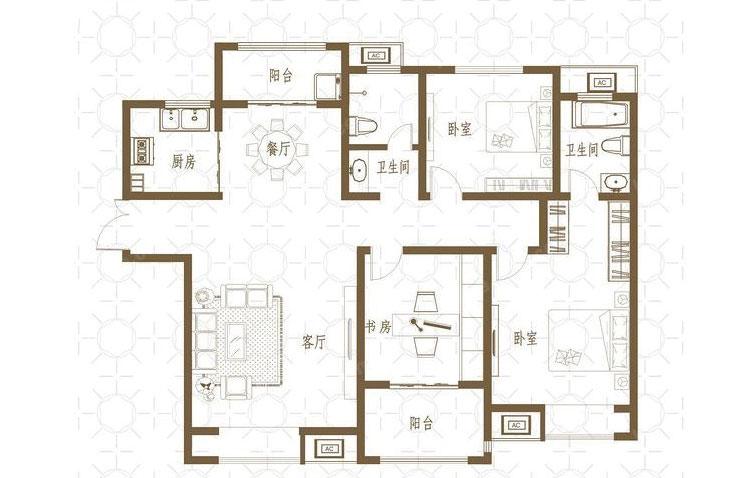 欧式 新芒果和郡 装修 客厅 玄关 户型图图片来自曹素雅美巢装饰在新芒果和郡141平欧式装修效果图的分享