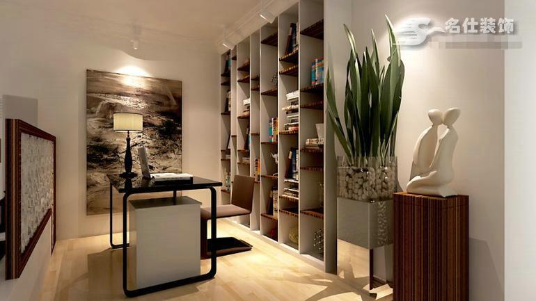 简约 三居 白领 收纳 旧房改造 80后 小资 书房图片来自名仕装饰-小飞在新澳蓝草坪-现代简约-三居室的分享