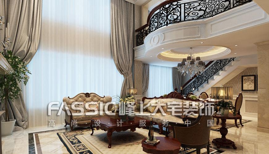 80后 小资 别墅 白领 客厅图片来自峰上大宅在峰上大宅橡树湾500平装修案例的分享