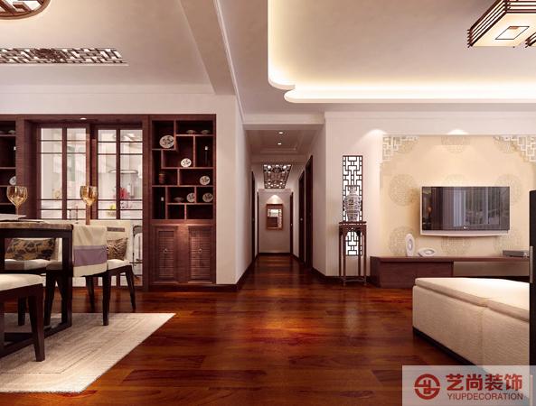 新中式 装修 客厅 餐厅 书房 27研究所装 玄关图片来自曹素雅美巢装饰在27研究所四室新中式装修效果图的分享