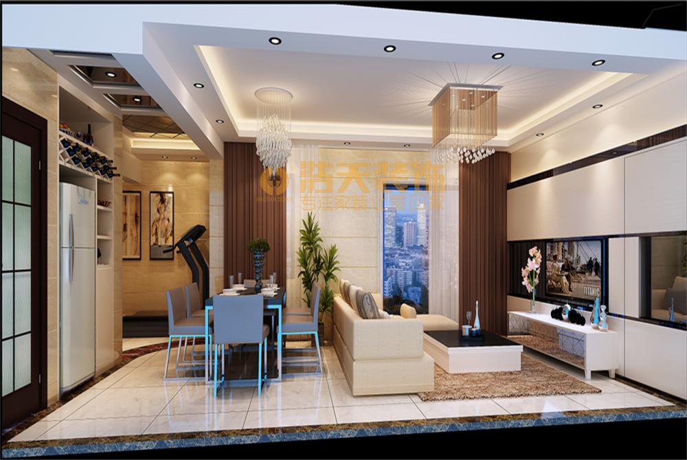 客厅图片来自深圳市浩天装饰在四季山水贺先生的分享