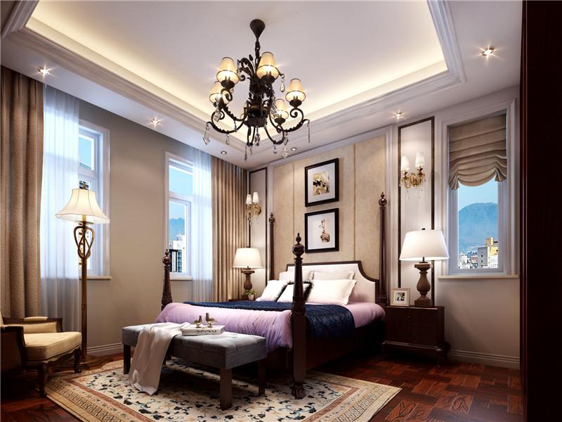 别墅 美式 北京别墅 卧室图片来自尚层装饰张迪在官厅·泊爱蓝岛530平美式风格的分享