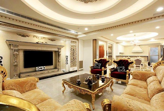 简约 欧式 别墅 宫廷奢华 客厅图片来自孙进进在198平欧式古典别墅演绎宫廷奢华的分享