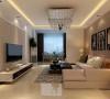 该户型的设计风格为现代简约风格。以暖色调为主,暖色的光源给空间营造了温馨舒适的感觉。整个空间功能分布合理,给人营造了一种温馨时尚和谐的家居生活。