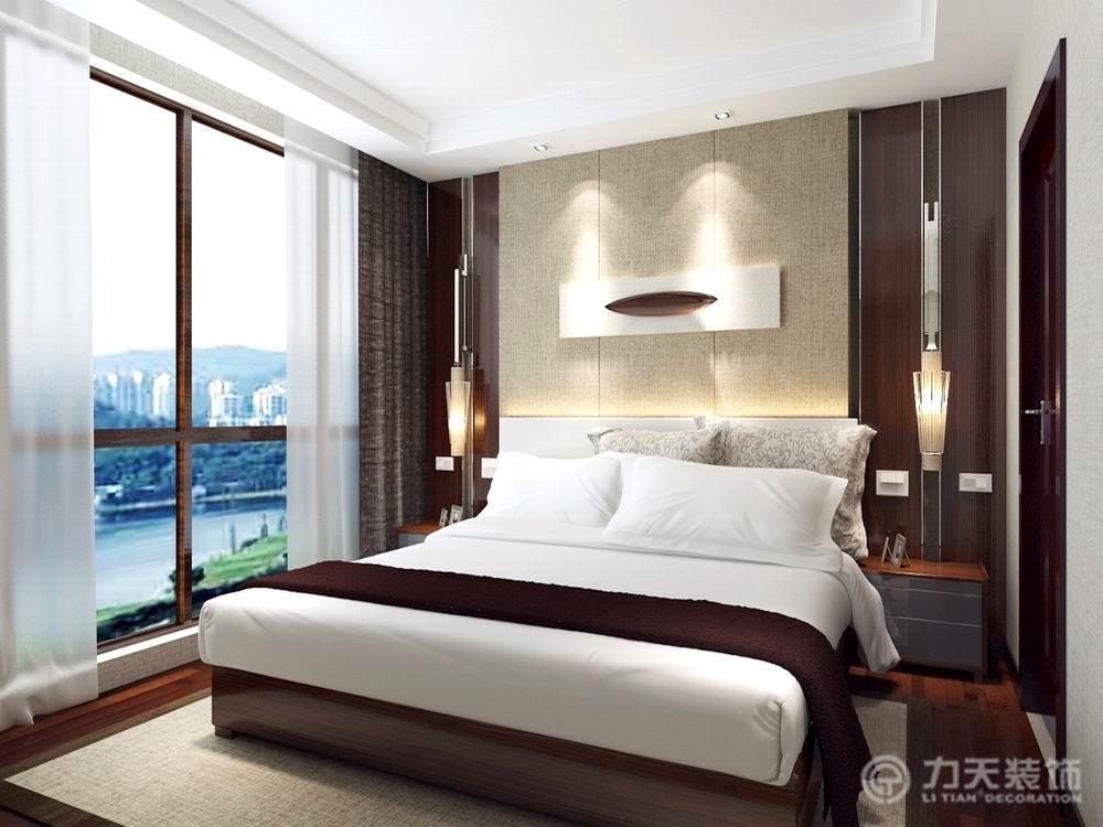 中式 四居 收纳 白领 80后 小资 卧室图片来自阳光力天装饰在阳光晶典-140㎡-新中式的分享