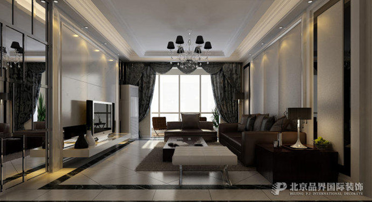 三居 小资 后现代 永威翡翠城 160平方× 客厅图片来自品界装饰郑州在永威翡翠城160平顶级样板间装修的分享