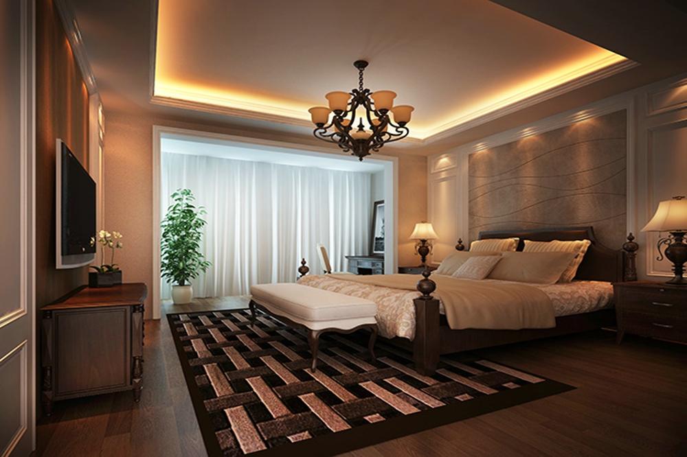 别墅 新古典 舒适 卧室图片来自石家庄业之峰装饰虎子在紫云阁-别墅-330平米新古典风格的分享