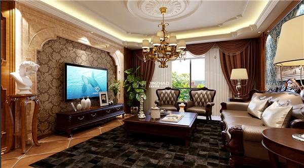 欧式 三居 别墅 白领 收纳 旧房改造 80后 小资 西安今朝 客厅图片来自西安今朝装饰设计有限公司在打造品质高端奢华领域的分享