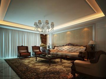 紫云阁-别墅-330平米新古典风格