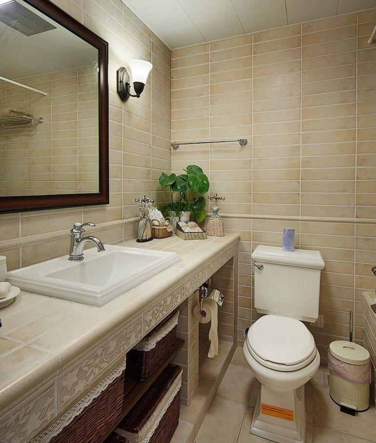 现代美式 日升装饰 装修设计 卫生间图片来自装修设计芳芳在高速路紫荆长安137平现代美式的分享