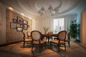 别墅 新古典 舒适 餐厅图片来自石家庄业之峰装饰虎子在紫云阁-别墅-330平米新古典风格的分享
