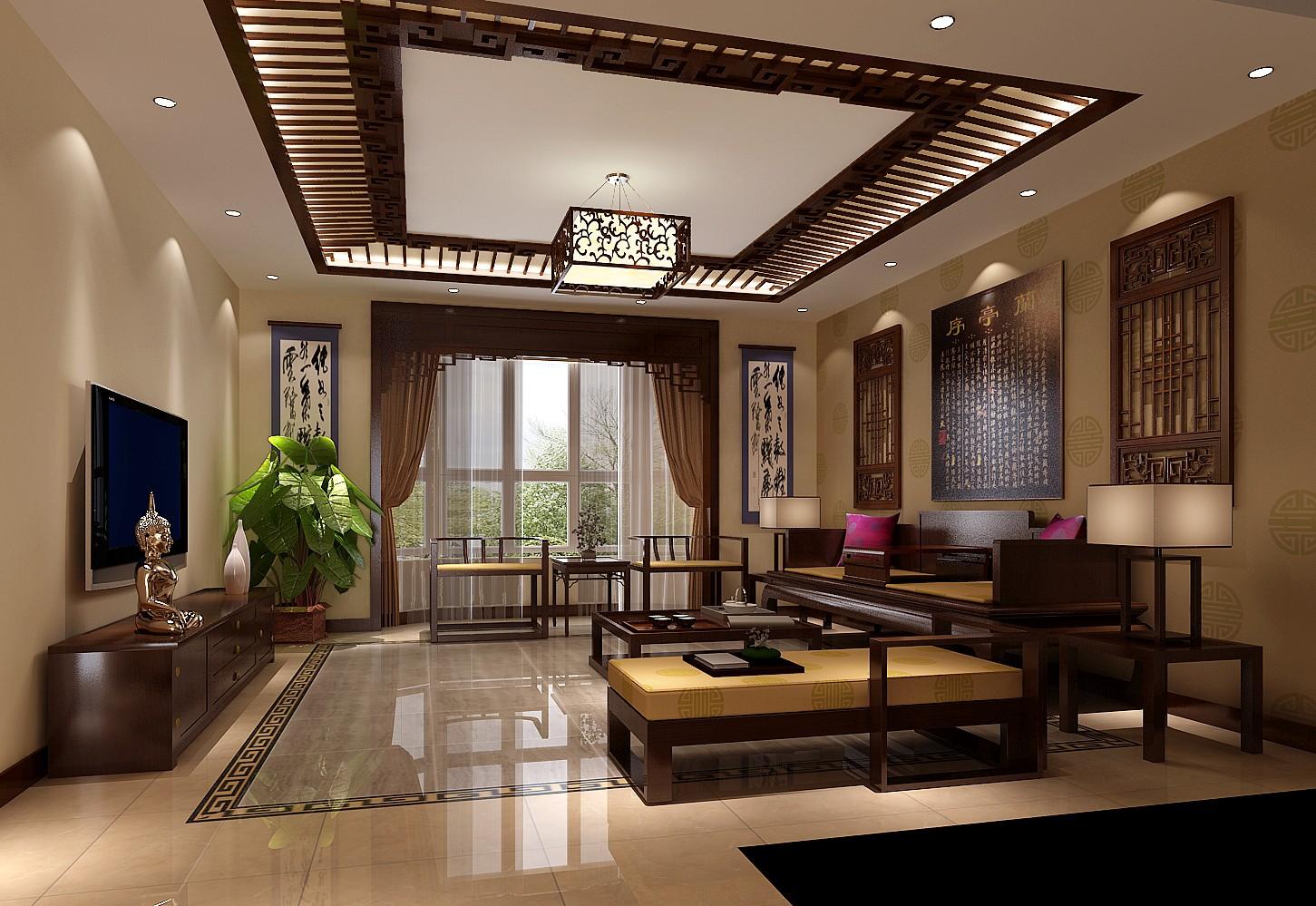 中式风格 装修设计 高度国际 客厅图片来自成都高度国际在泰悦湾-180㎡-中式古典风格的分享