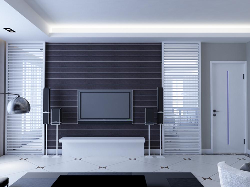 简约 二居 客厅图片来自tjsczs88在经典黑白配的分享