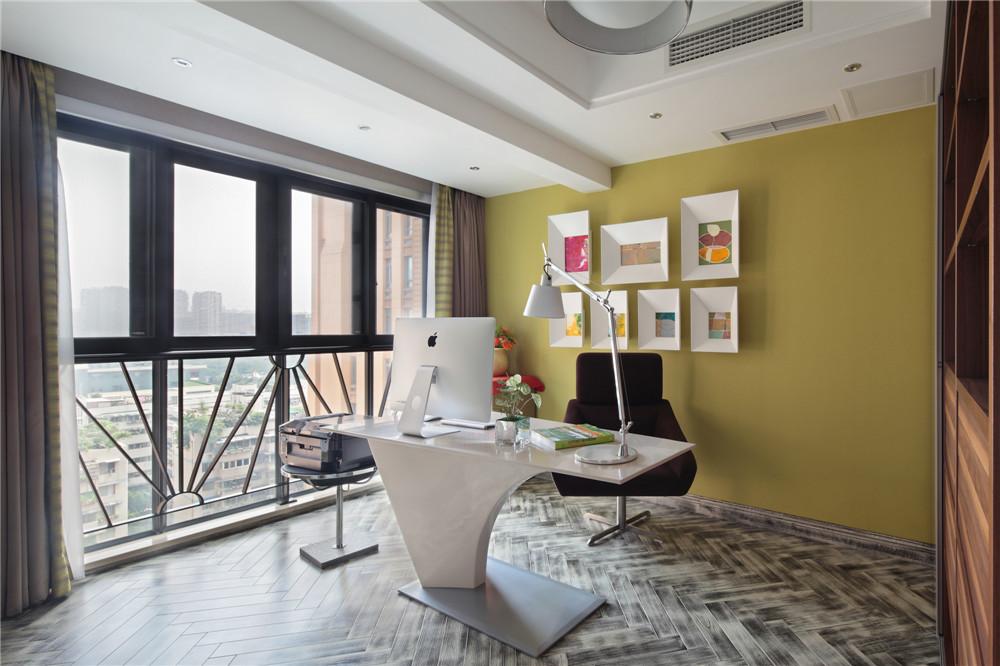 简约 三居 时尚 书房图片来自成都业之峰装饰公司在现代简约——桐梓林欧城实景的分享