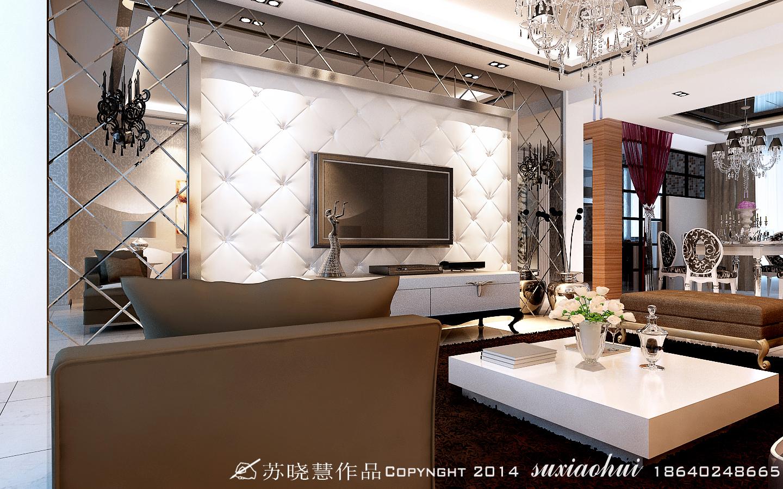 简欧风格 欧式 混搭 三居 旧房改造 百家装饰 装修公司 客厅装修 客厅图片来自百家装饰小姜在新加坡城124平简欧风格的分享