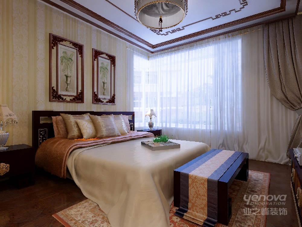 136平 三居 雅仕兰庭 卧室图片来自天津业之峰装饰在雅仕兰庭136平新中式三居室的分享