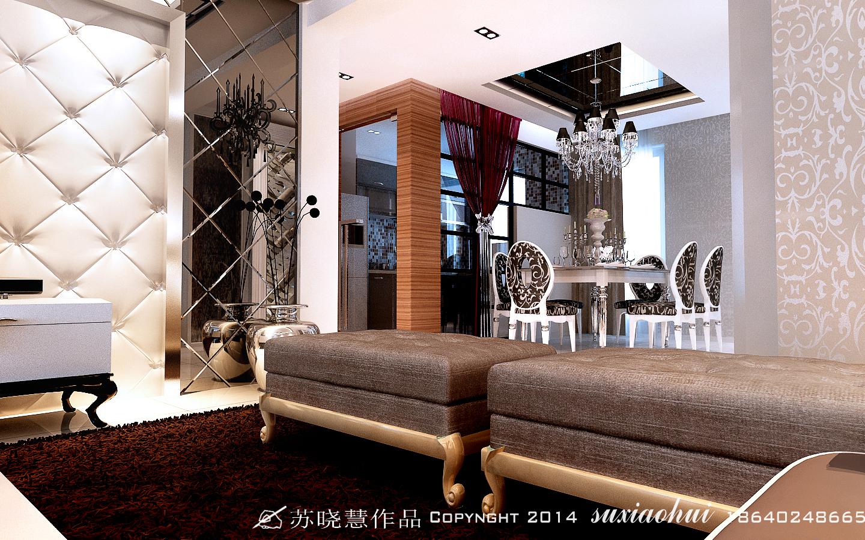 简欧风格 欧式 混搭 三居 旧房改造 百家装饰 装修公司 客厅装修 餐厅图片来自百家装饰小姜在新加坡城124平简欧风格的分享