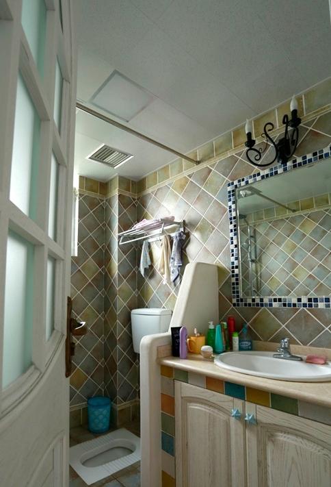 简约 美式乡村 舒适 温馨 时尚 大气 卫生间图片来自成都生活家装饰在87平简约时尚2居室美式风格的分享
