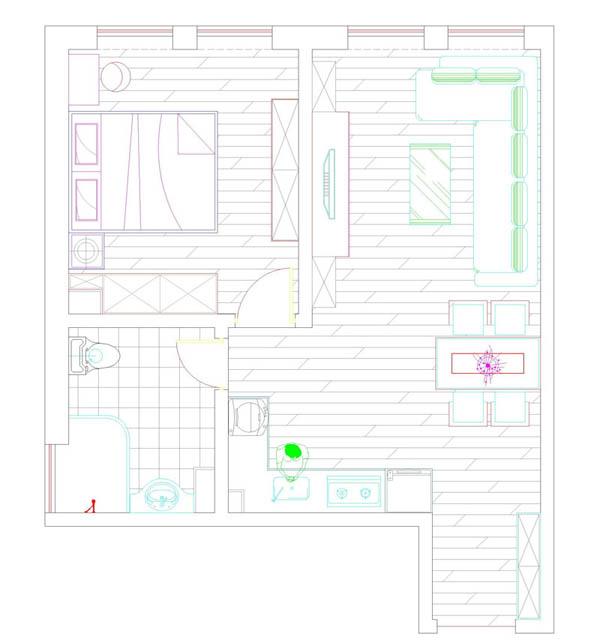 欧式 古典欧式 一居 和谐 小资 户型图图片来自YI依帆2012在世界城年轻欧式风格案例赏析的分享