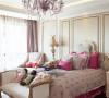 白色的家具配色色彩活泼的装饰品,加上一副油画的点缀,唯美浪漫。