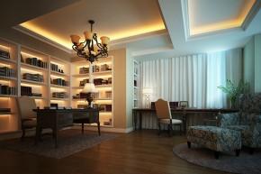 别墅 新古典 舒适 书房图片来自石家庄业之峰装饰虎子在紫云阁-别墅-330平米新古典风格的分享