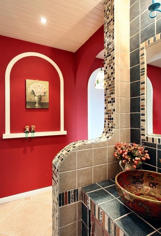 田园 三居 80后 loft 卫生间图片来自沪上名家装饰在宁静de田园--海悦华庭的分享