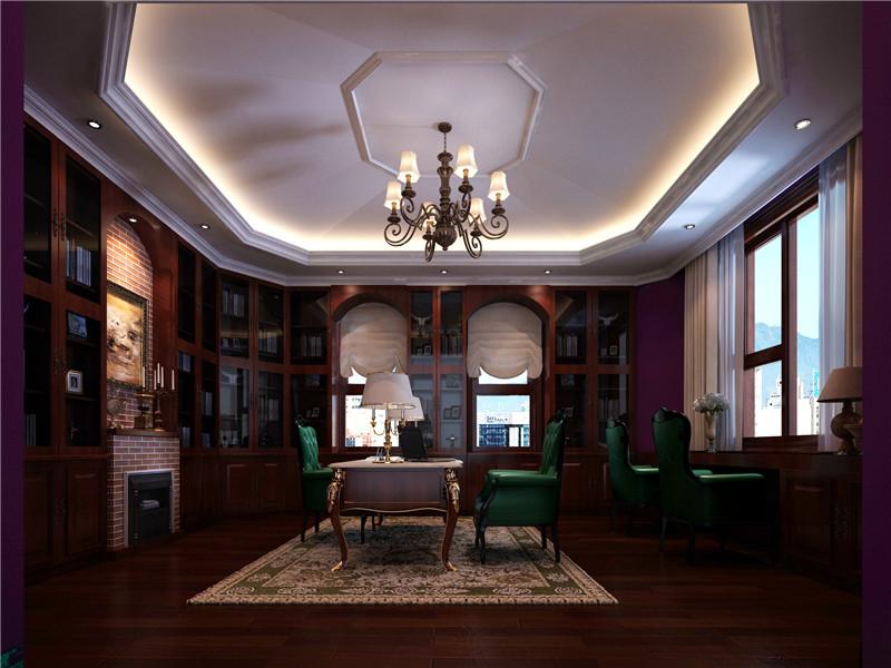 别墅 美式 北京别墅 书房图片来自尚层装饰张迪在官厅·泊爱蓝岛530平美式风格的分享
