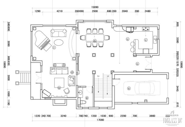 法式 别墅 户型图图片来自尚层别墅装饰总部在雅致法式你见过吗?的分享
