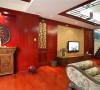 珠江新城中海花地-204平米-中式风格-装修效果图