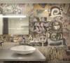 在公卫,为小主人专门定制的涂鸦系列墙砖是亮点,很特别很时尚