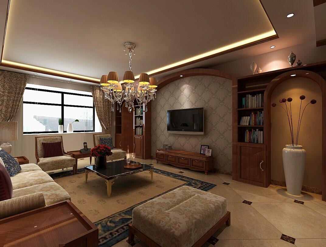 田园 客厅图片来自郑州实创装饰-杨淑平在卢浮公馆温馨的美式田园风格的分享