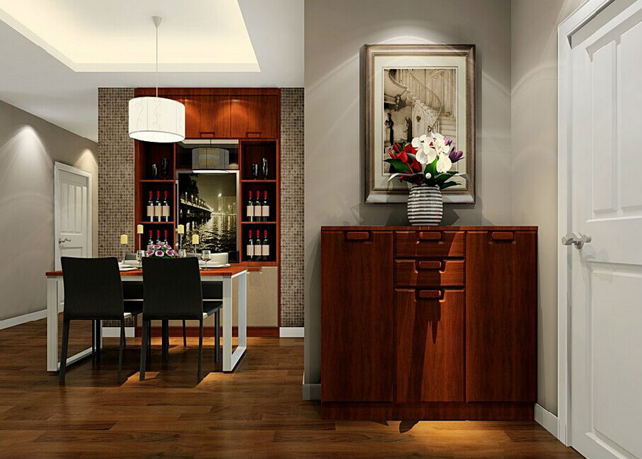 玄关 日升装饰四 玄关装修效图片来自装修设计芳芳在小玄关大亮点的分享