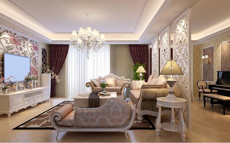 客厅图片来自大业美家装饰在东方港湾142平大三居欧式装修的分享