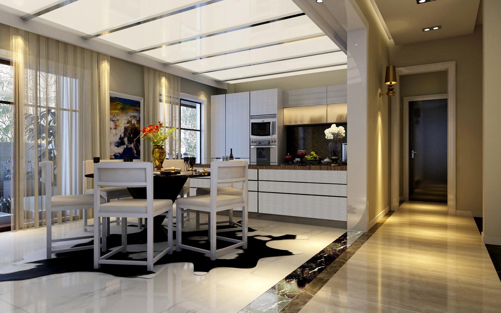 别墅装修 别墅设计 装修设计 尚层装饰 北京尚层 软装配饰 餐厅图片来自北京别墅装饰在舒适,现在+智能化的现在风格的分享