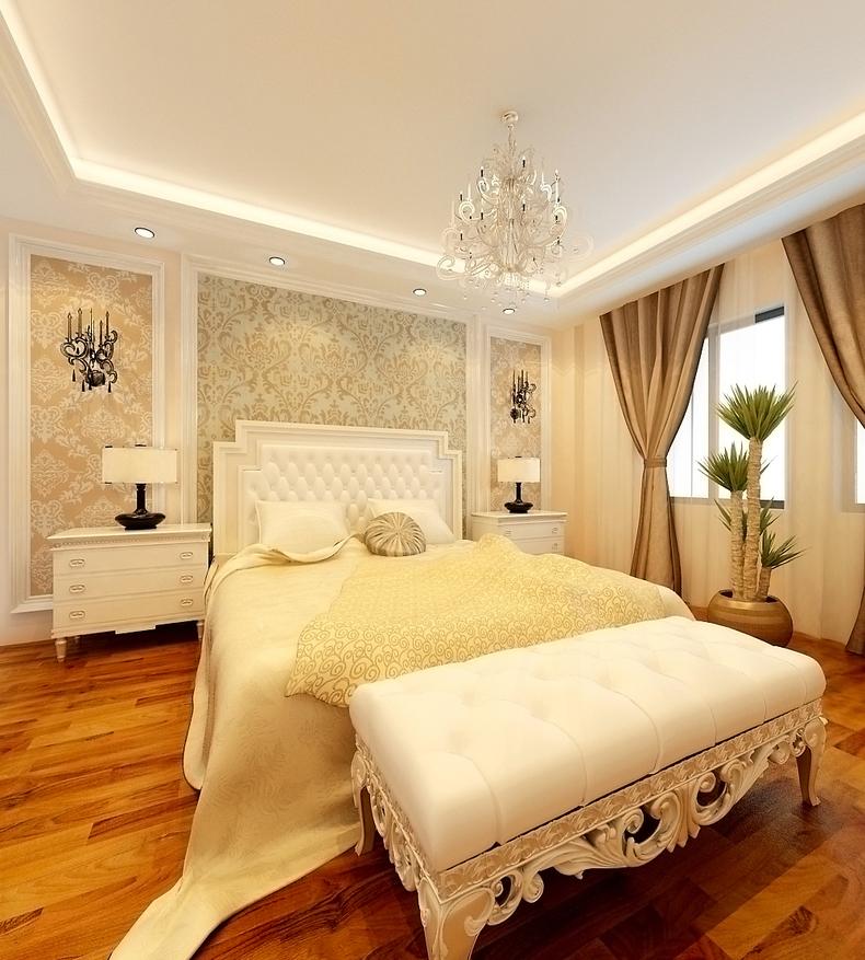 欧式 二居 旧房改造 升龙国际 80后 卧室图片来自今朝装饰老房装修通王在升龙国际-简约欧式风格的分享