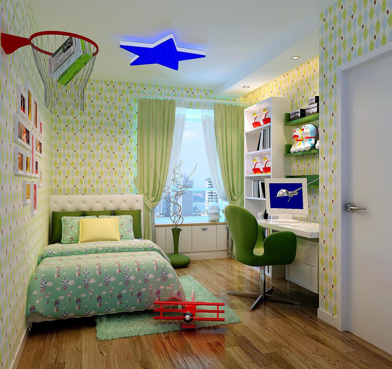 简约 三居 白领 80后 小资 时尚 高大上 儿童房图片来自实创装饰都琳在东恒时代现代简约的分享