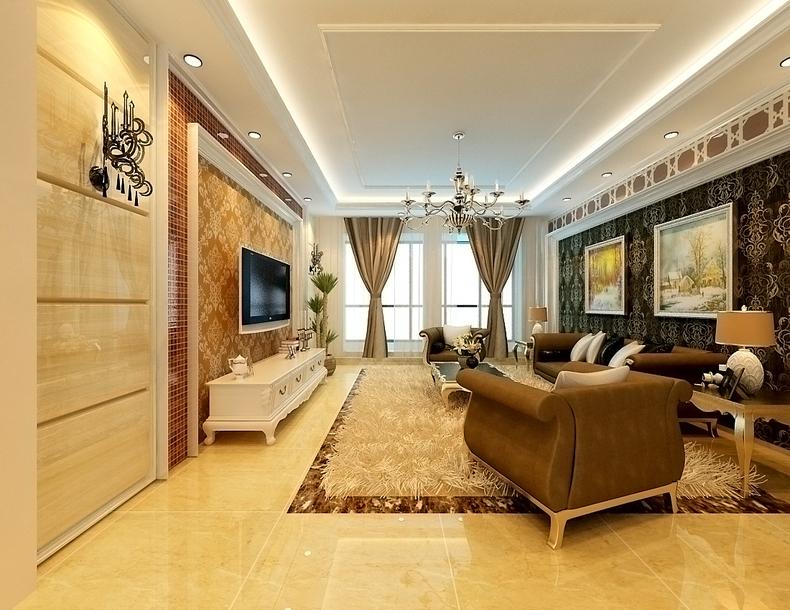 欧式 二居 旧房改造 升龙国际 80后 客厅图片来自今朝装饰老房装修通王在升龙国际-简约欧式风格的分享