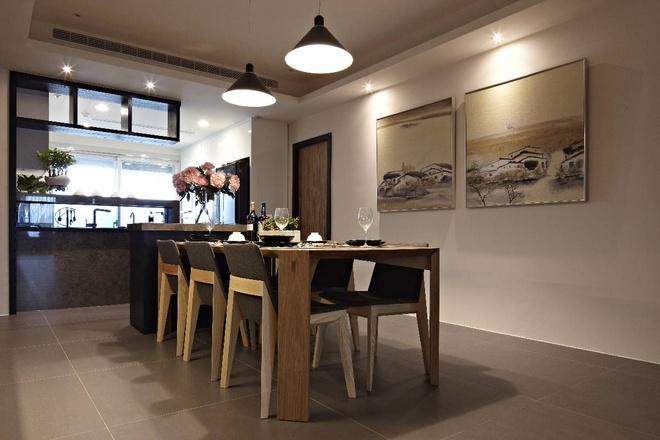 简约 三居 收纳 80后 时尚 雅居 餐厅图片来自孙进进在145平现代时尚雅居实景案例欣赏的分享